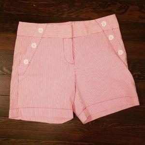 NWOT Loft Pink Striper Seersucker Sailor Shorts